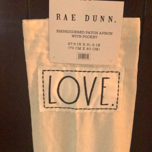 """Rae Dunn """"LOVE"""" Apron"""